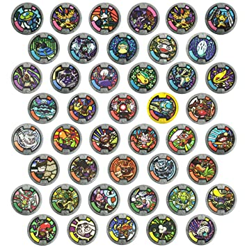 Complete Set Yokai Watch Season 1 Medals All 44 Blind