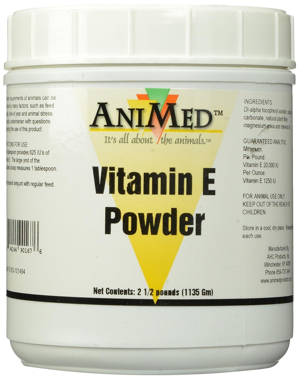 AniMed Vitamin E Powder Supplement for Horses, 2.5-Pound 053-90167