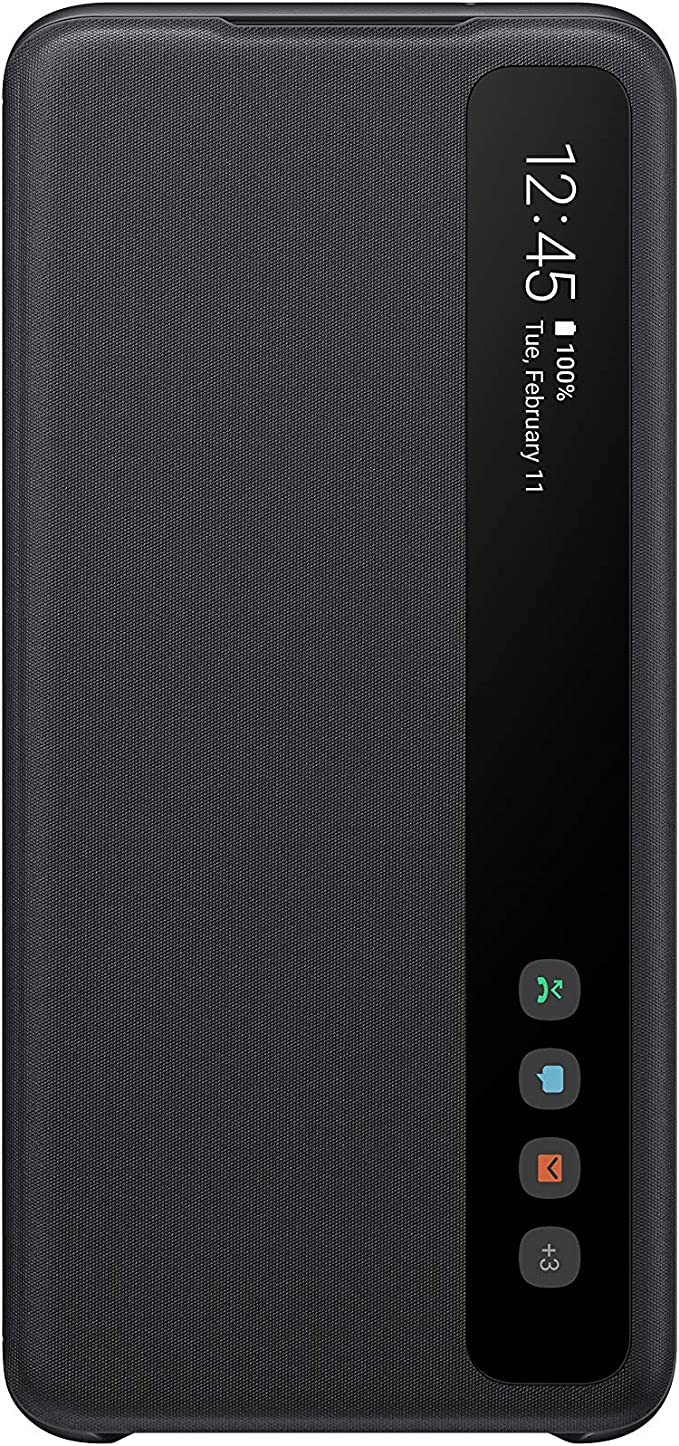 Samsung Clear View Cover Ef Zg980 For Galaxy S20 S20 5g Black Elektronik