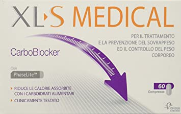 XLS Medical - Comprimidos Control de peso CarboBlocker: Amazon.es: Salud y cuidado personal