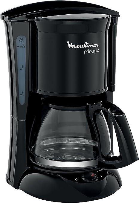 Moulinex Principio FG152832 - Cafetera de filtro, 6 tazas, función auto apagado, 600 W, 6 tazas: Amazon.es: Hogar
