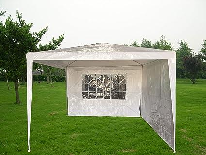 KitGarden - Carpa Desmontable 3x3 Jardín con 2 laterales, 300x300x245 cm, Blanco, Basic 3x3: Amazon.es: Jardín