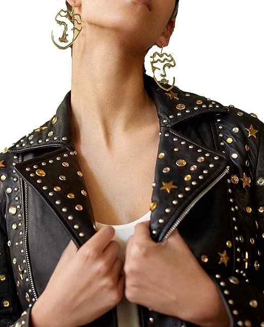 Uterque - Chaqueta - para mujer negro negro Large: Amazon.es ...