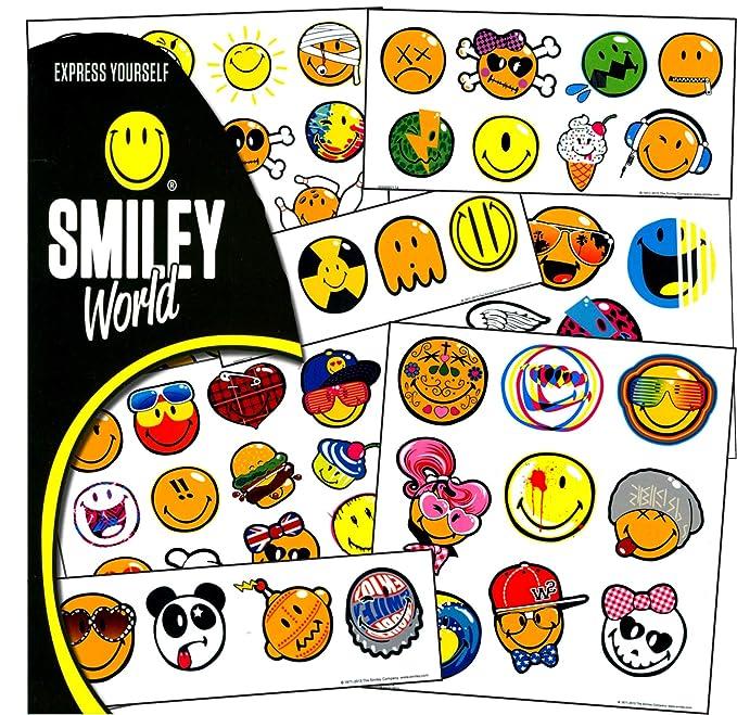 Amazon com: Sandy Lion Smiley Tattoos - 75 Assorted Smiley