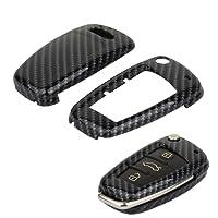 TOMALL Smart Remote Key Fob Shell Modello in fibra di carbonio per Audi A3 A4 A6 A8 TT Q7