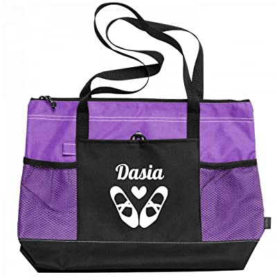 Ballet Dancer Love Dasia: Gemline Select Zippered Tote Bag
