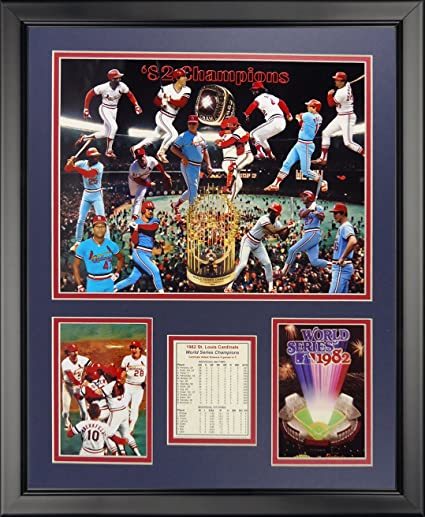 Legends Never Die 1982 St Louis Cardinals Champions Framed Photo Collage 16quot