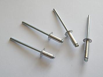 Flachkopf 3,0 X 16 mm Edelstahl A2 - Popnieten Nieten 50 St/ück Blindnieten DIN 7337 m