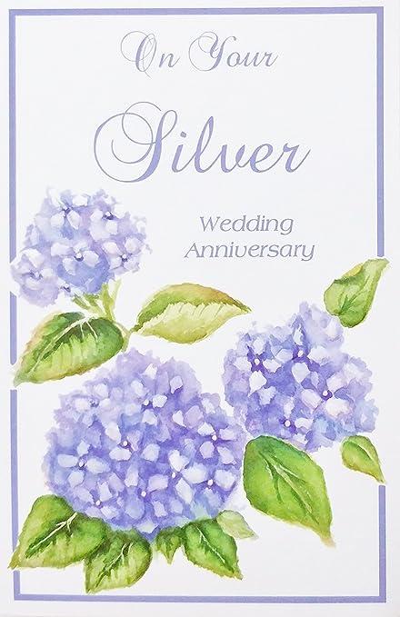 Amazon Com On Your Silver Wedding Anniversary Greeting