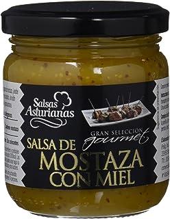 Salsas Asturianas Salsa de Mostaza a la Miel - 210 gr - [Pack de 6