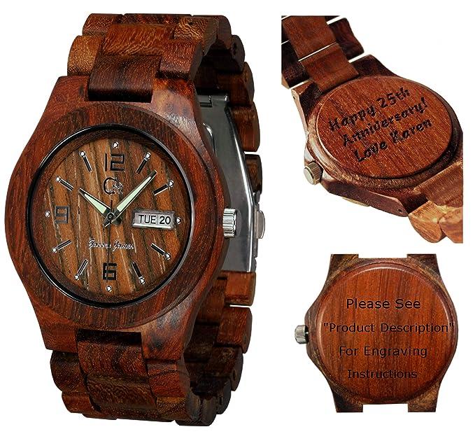 Reloj de madera Gassen James - Alpha I Madera de Rosal: Amazon.es: Relojes