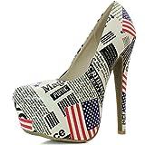 Women's Extreme High Fashion Pointed Toe Hidden Platform Sexy Stiletto High Heel Pump Shoes