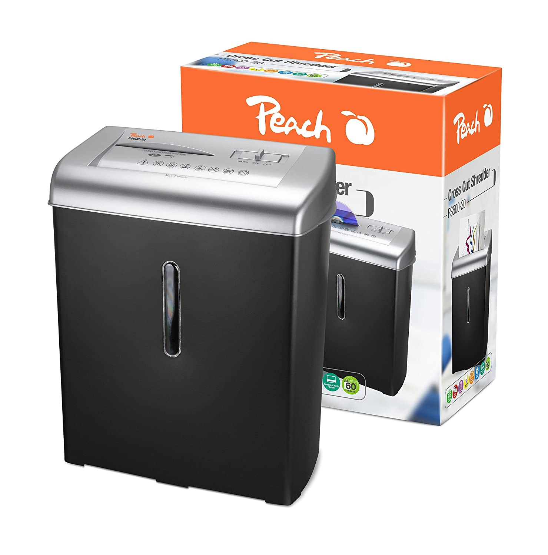 Peach Kreuzschnitt Aktenvernichter - PS500-20, 7 Blatt Computerzubehör