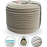 Grevinga® Polypropylen Spinnfaserseil - Kunststoffseil - Seil - Hanfseil Optik Ø 20 mm