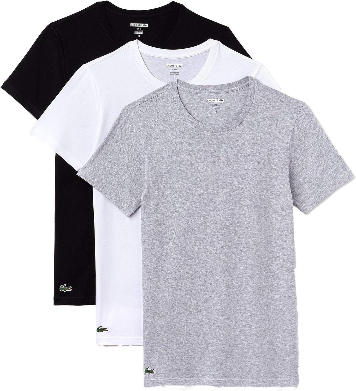 Lacoste Esencialalgodón 3-Pack Cuello Redondo Camiseta De Ajuste ...