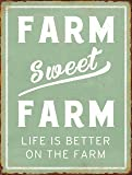 "Barnyard Designs Farm Sweet Farm Life Is Better On The Farm Retro Vintage Tin Bar Sign Country Home Decor 10"" x 13"""