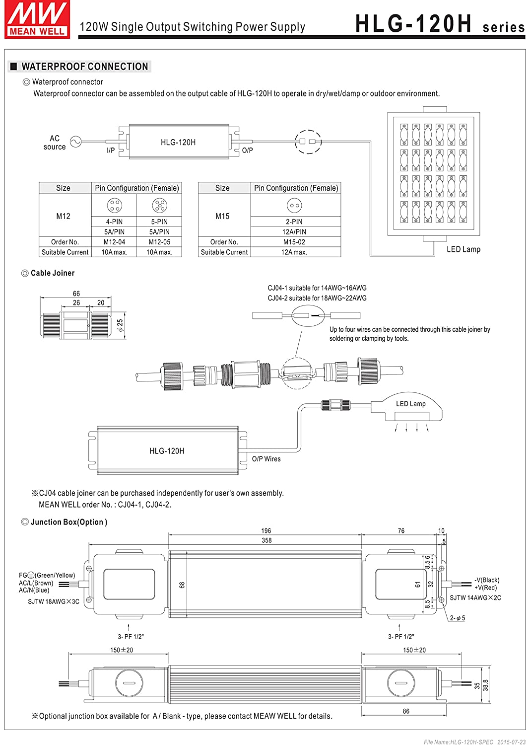 Hlg 120h 54a Ac Dc Power Supply Single Out 54v 23a Pin 300w Atx Circuit Diagram On Pinterest 1242w 5 Home Audio Theater