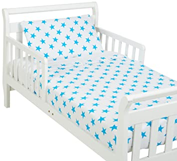 aden + anais Classic Toddler Bed in a Bag - Fluro Blue Kids Bedding Sets: Toddler Bedding, Toddler Pillow, Cotton Blanket