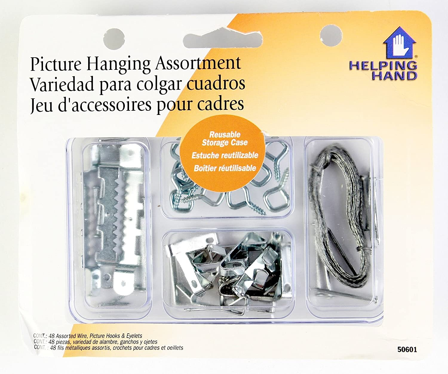 Helping Hand Picture Hanging Kit, Set of 48 Assorted Screws ...