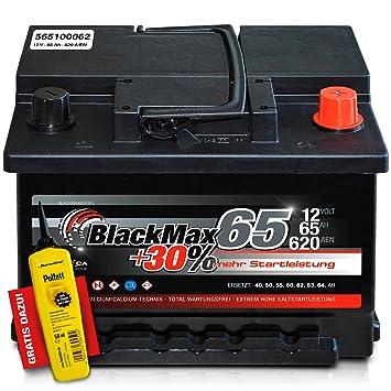 Blackmax 30 12 V 65 Ah 620 A En Autobatterie Kfz Pkw Batterie