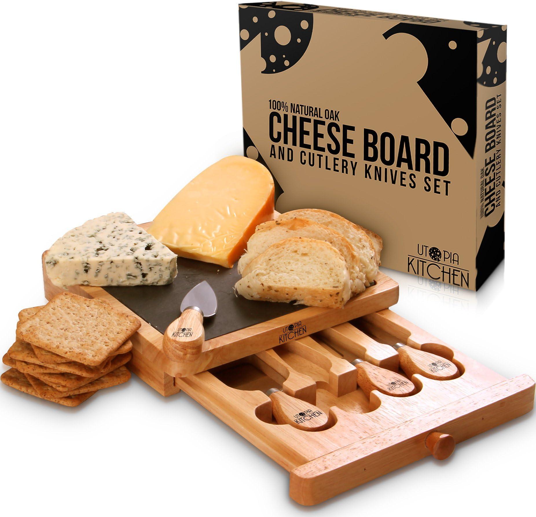 Cheese Board and Knife ...  sc 1 st  Amazon.com & Amazon.com: Cheese Plates: Home \u0026 Kitchen