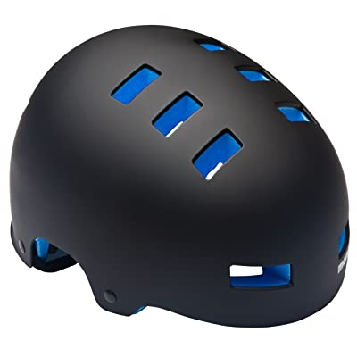 Mongoose Youth Street Bike Hardshell Helmet, Black/Blue : Childrens Bike Helmets : Sports & Outdoors