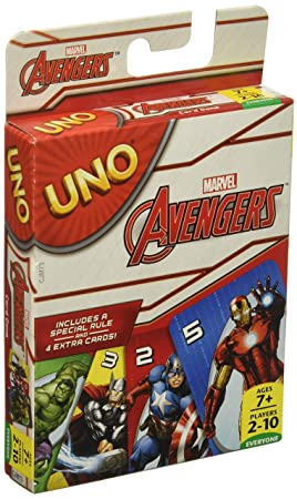 Marvel Avengers UNO Card Game by Mattel: Amazon.es: Juguetes ...