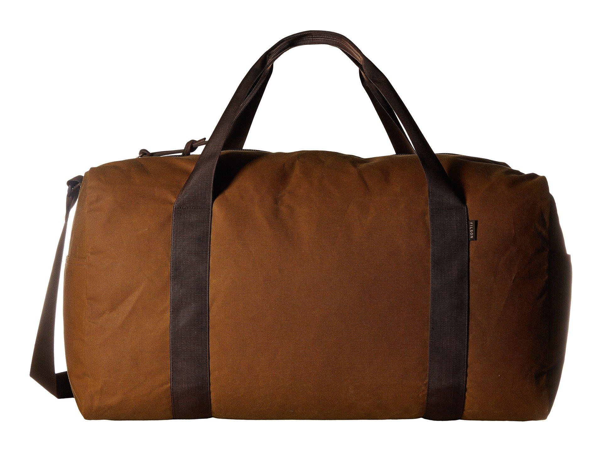 Filson Men's Medium Field Duffel, Dark Tan/Brown, One Size