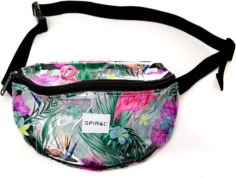 Spiral Tropical Transparent Bum Bag Sac Banane Sport 23 Centimeters 2 Multicolore Multicolour
