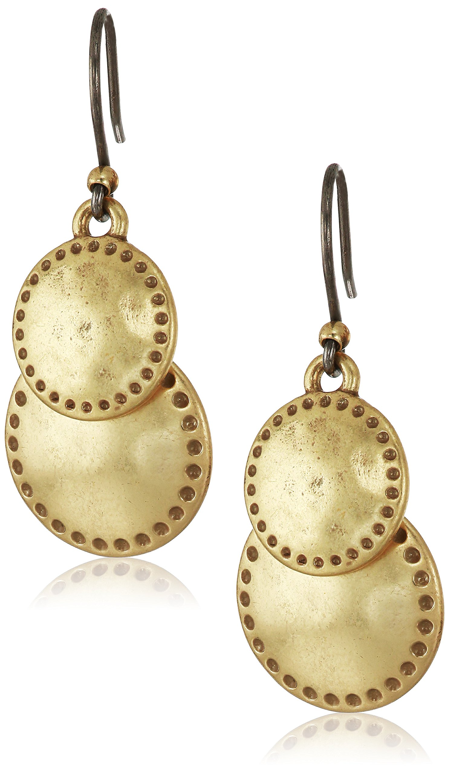 Lucky Brand Double Drop Earrings, Gold, One Size