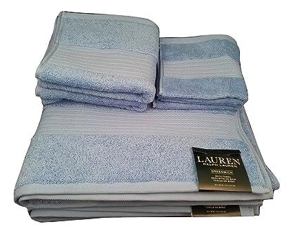 Ralph Lauren Lauren Greenwich Toalla de baño – Azul