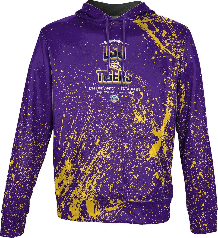 Splatter LSU University Boys Pullover Hoodie Fiesta Bowl 2019 School Spirit Sweatshirt