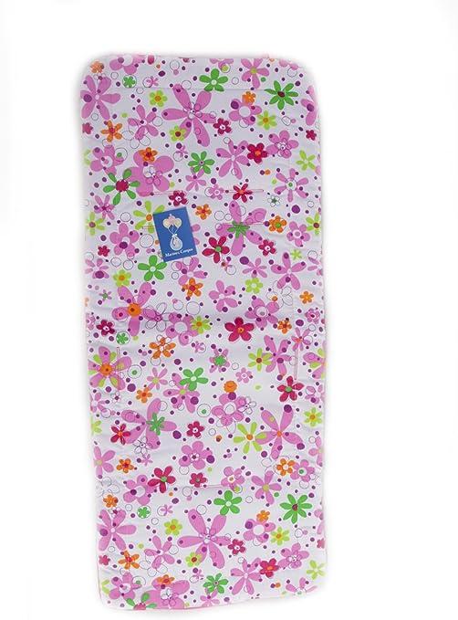 Colchoneta Silla Paseo Universal Recta - Flores Color Blanco-rosa ...