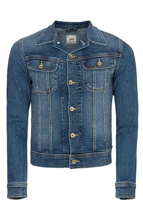 Lee Hombre Jeans Chaqueta, hombre, azul, large
