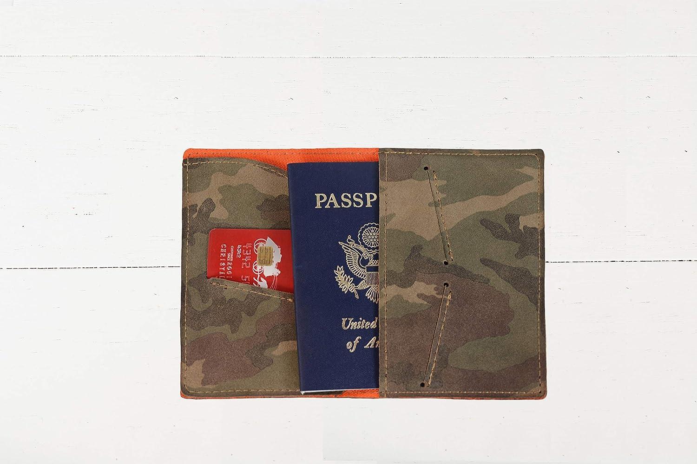Camo Vinyl Passport Holder Personalized