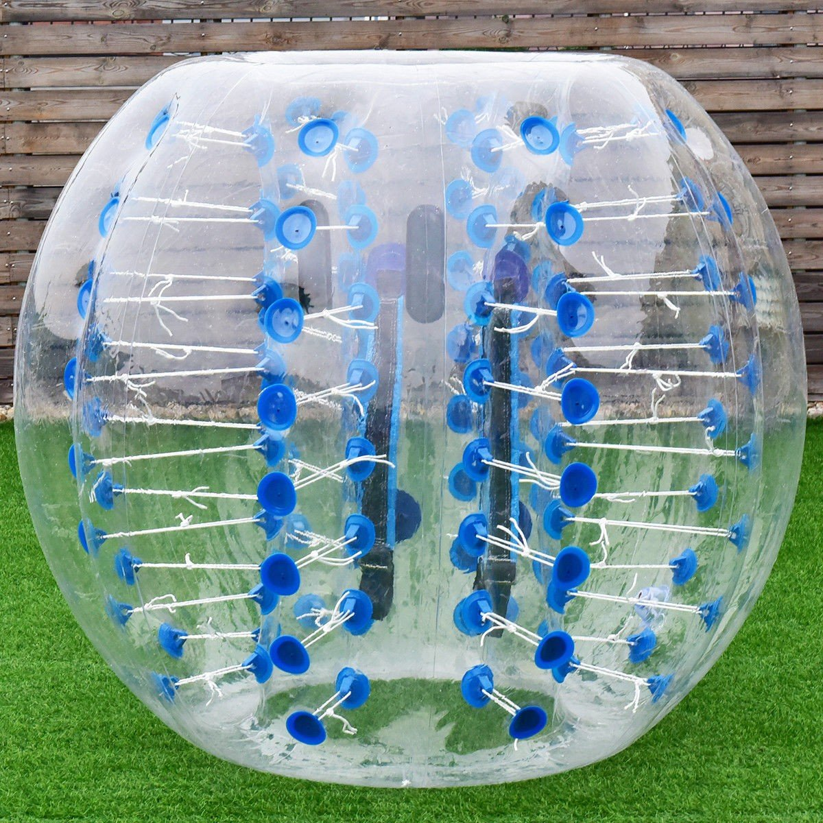 MD Group Inflatable Bumper Ball 1.5M Dia. 5' PVC Lightweight Blue Transparent Waterproof Outdoor Toy by MD Group