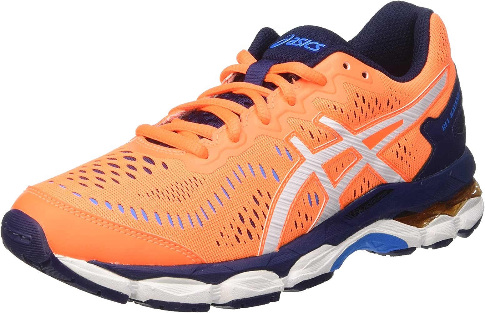 Asics Gel-Kayano 23 GS, Zapatillas de Deporte Infantil, Naranja (Shocking Orange/White/Indigo Blue), 37 EU: Amazon.es: Zapatos y complementos
