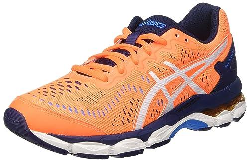 Asics Gel-Kayano 23 GS, Zapatillas de Deporte Infantil, Naranja (Shocking Orange/White/Indigo Blue), 37 EU: Amazon.es: Zapatos y complementos