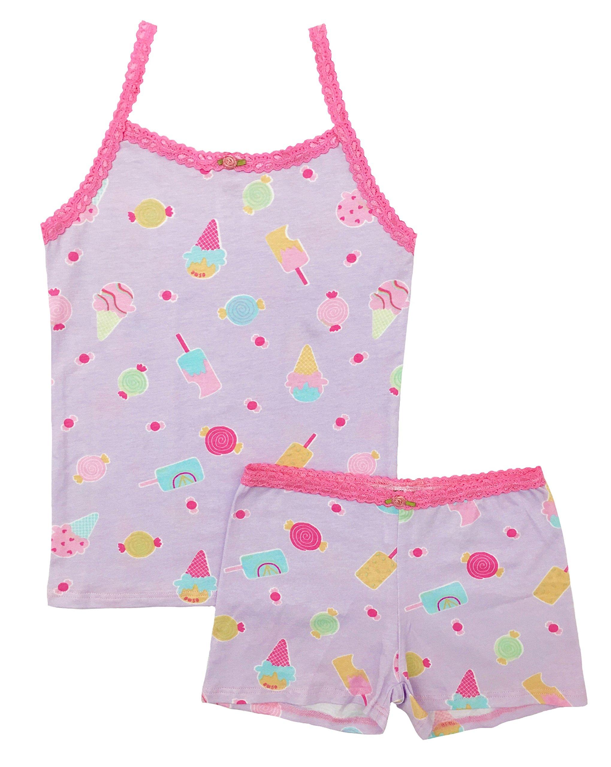 Esme Girl's Sleepwear Camisole/Boxer shorts Pajama set-07-Ice Cream
