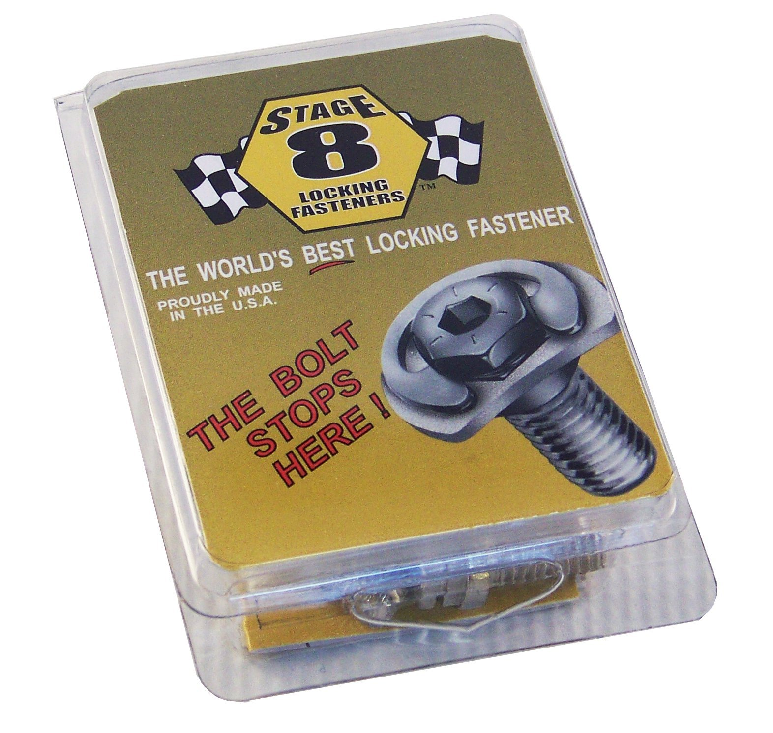 Stage 8 8906 Locking Header Bolt Kit with 8mm Bolts for Ford 4.6 and 5.4 Liter Modular Engine by Stage 8
