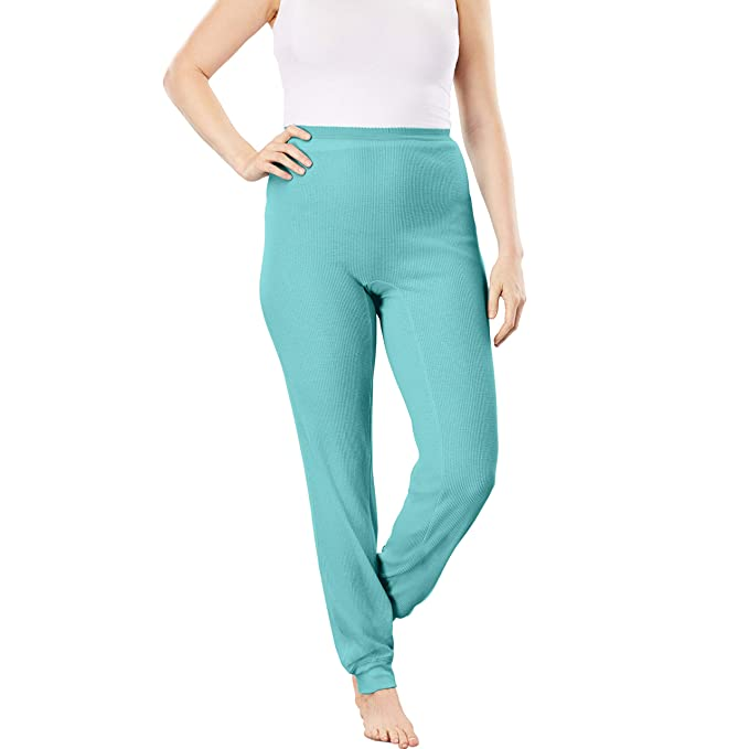 cbd2bdee62f Comfort Choice Women s Plus Size Thermal Lounge Pant at Amazon ...