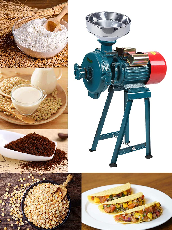 BEAMNOVA 2200W Wet Grinder Grain Mill Molino de Maiz Electric Food Grinder for Corn Flour Rice Nut, Green Industrial Commercial Machine