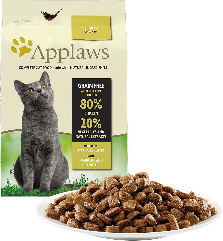 Applaws Comida seca para gatos, pollo /senior, 7.5 kg