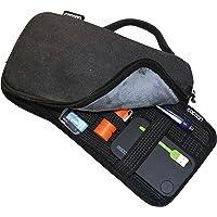 Cocoon CSG270BK Waxed Canvas Gadget Case includes GRID-IT!® Accessory Organizer (Black)