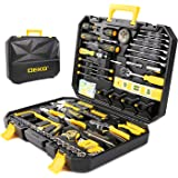 DEKO 168pcs Tool Set- for Auto Repair, General Household with Wrench and Plastic ToolBox
