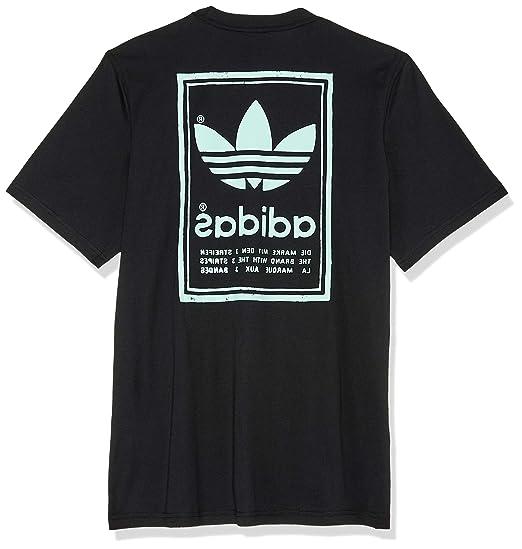 Adidas Vintage tee - Camiseta, Hombre, Negro(Negro): Amazon.es: Deportes y aire libre