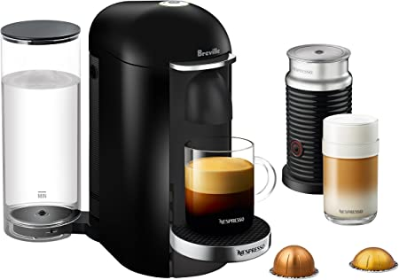 Breville-Nespresso USA BNV450BLK1BUC1 VertuoPlus Coffee and Espresso Machine, Bundle – Black