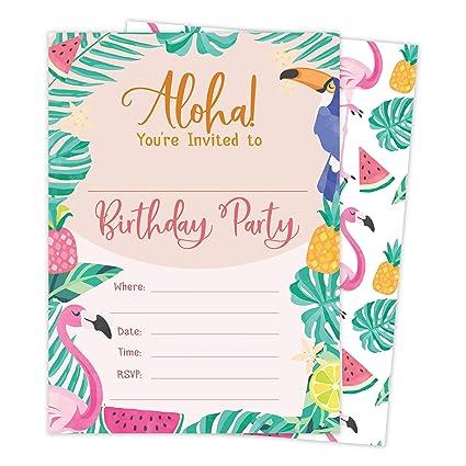 Amazon Com Hawaiian Aloha Hi Maui Tropical Style 2 Happy Birthday