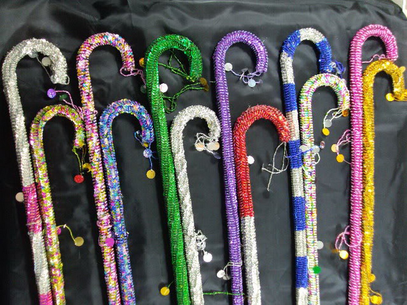 Wholesale 15 Pcs Belly Dance Canes Sticks Egyptian Decorated Sequins Beads Handmade by bonballoon