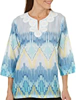 Alfred Dunner Petites' Biadere Woven Top